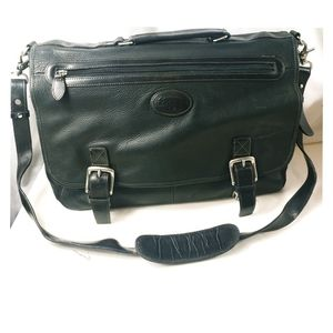Fossil Leather Messenger Bag Briefcase Carry-on